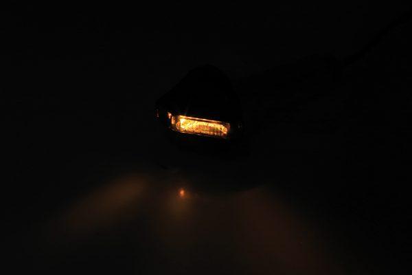 HIGHSIDER LED styrändsblinkers FLIGHT, tonat glas