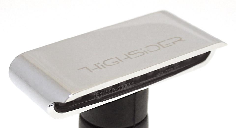 schwarz HIGHSIDER UNIVERSAL Aluminium HIGHSIDER LED-Blinker STRIPE