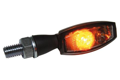 HIGHSIDER LED-blinkers/positionslampa BLAZE, svart, rökfärgat