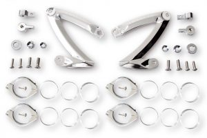 HIGHSIDER CNC Lampenhalter Set Z-STYLE, für 38-41mm