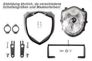 Scheinwerfer Set mit Schellen BA1 - 42-43 mm, carbon