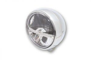 HIGHSIDER 5 3/4 Zoll LED-Hauptscheinwerfer JACKSON, untere Befestigung - chrom