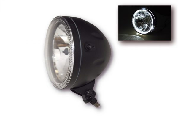 HIGHSIDER 5 3/4 tum huvudstrålkastare SKYLINE, LED positionsljusring