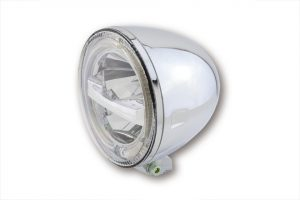 HIGHSIDER 5 3/4 inch LED-koplamp CIRCLE, 5 3/4 inch, verchroomd