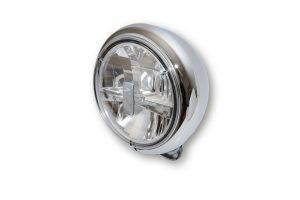HIGHSIDER 7 Zoll LED Scheinwerfer HD-STYLE TYP 3 - chrom