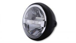 HIGHSIDER 7 tum LED-strålkastare BRITISH-STYLE TYP 4, svart, sidomontering