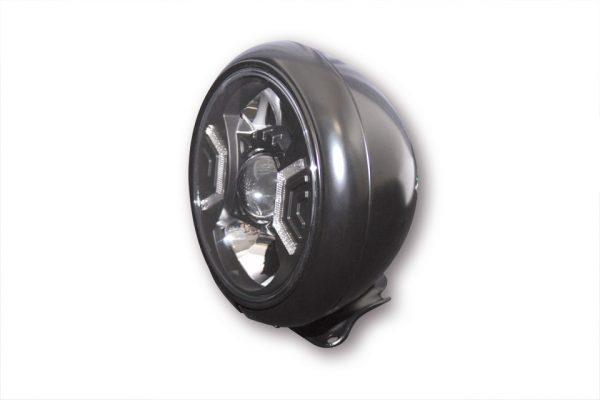 7 Zoll LED Scheinwerfer HD-STYLE TYP 2 - schwarz