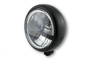 HIGHSIDER 5 3/4 Zoll LED-Scheinwerfer PECOS TYP 5, chrom - schwarz