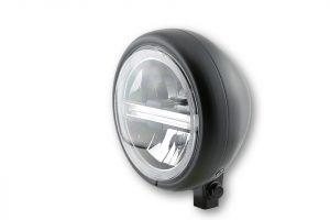 HIGHSIDER 5 3/4 Zoll LED-Scheinwerfer PECOS TYP 6 mit TFL, chrom - schwarz