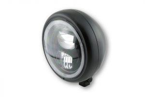 HIGHSIDER 5 3/4 Zoll LED-Scheinwerfer PECOS TYP 7 mit Standlichtring, schwarz matt - schwarz