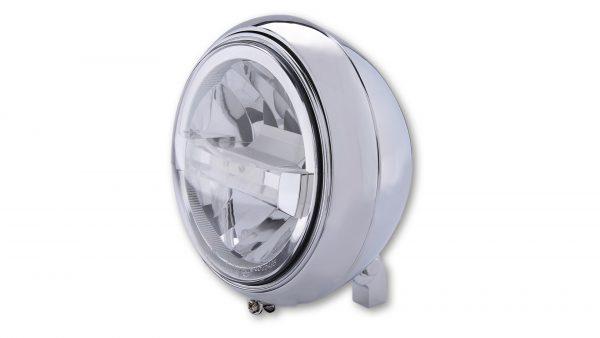 HIGHSIDER 7 inch LED-straler YUMA 2 TYP 4 met TFL, verchroomd, 7 inch LED-straler YUMA 2 TYP 4 met TFL