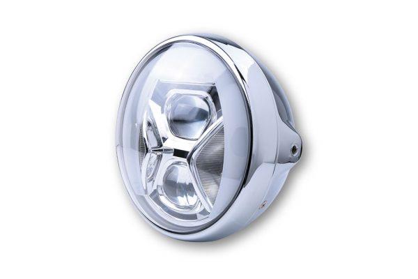 7-inch LED-koplamp BRITISH-STYLE TYPE 8 met TFL, bochtverlichting, 7-inch LED-koplamp BRITISH-STYLE TYPE 8 met TFL, bochtverlichting