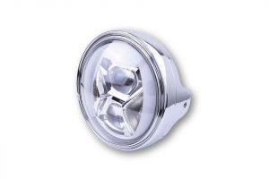 7 Zoll LED Scheinwerfer LTD TYP 8 mit TFL, Kurvenlicht - chrom