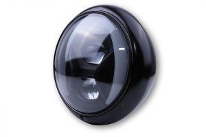 7 Zoll LED Scheinwerfer HD-STYLE TYP 8 mit TFL, Kurvenlicht - schwarz