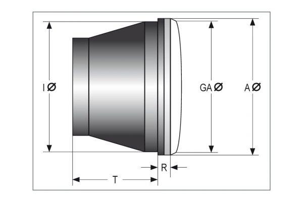 HIGHSIDER LED Hauptscheinwerfereinsatz JACKSON, 5 3/4 Zoll