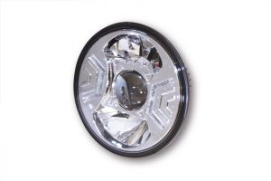 HIGHSIDER LED-huvudstrålkastarinsats Typ 2, 7 tum, svart