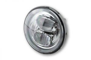 HIGHSIDER LED Hauptscheinwerfereinsatz TYP 7 mit Standlichtring, rund, schwarz, 5 3/4 Zoll - chrom