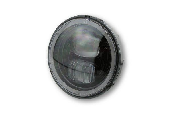 HIGHSIDER LED huvudstrålkastarinsats TYP 7 med positionsljusring, rund, svart, 5 3/4 tum