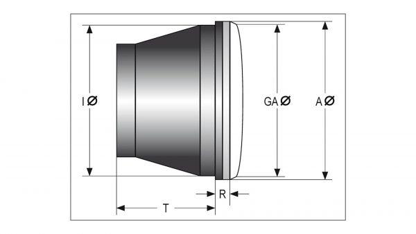 HIGHSIDER LED-huvudstrålkastarinsats VOYAGE, 7 tum
