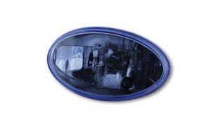 HIGHSIDER H4 Einsatz oval, Klarglas blau eingefärbt, mit Standlicht - blau