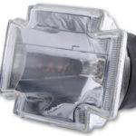 HIGHSIDER H4 Einsatz GOTHIC, Klarglas, 12V 60/55W, mit Standlicht, E geprüft.