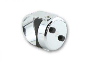 HIGHSIDER CNC-drukknop CLASSIC, chroom, 7/8 & 1 inch stuur, 7/8 & 1 inch stuur