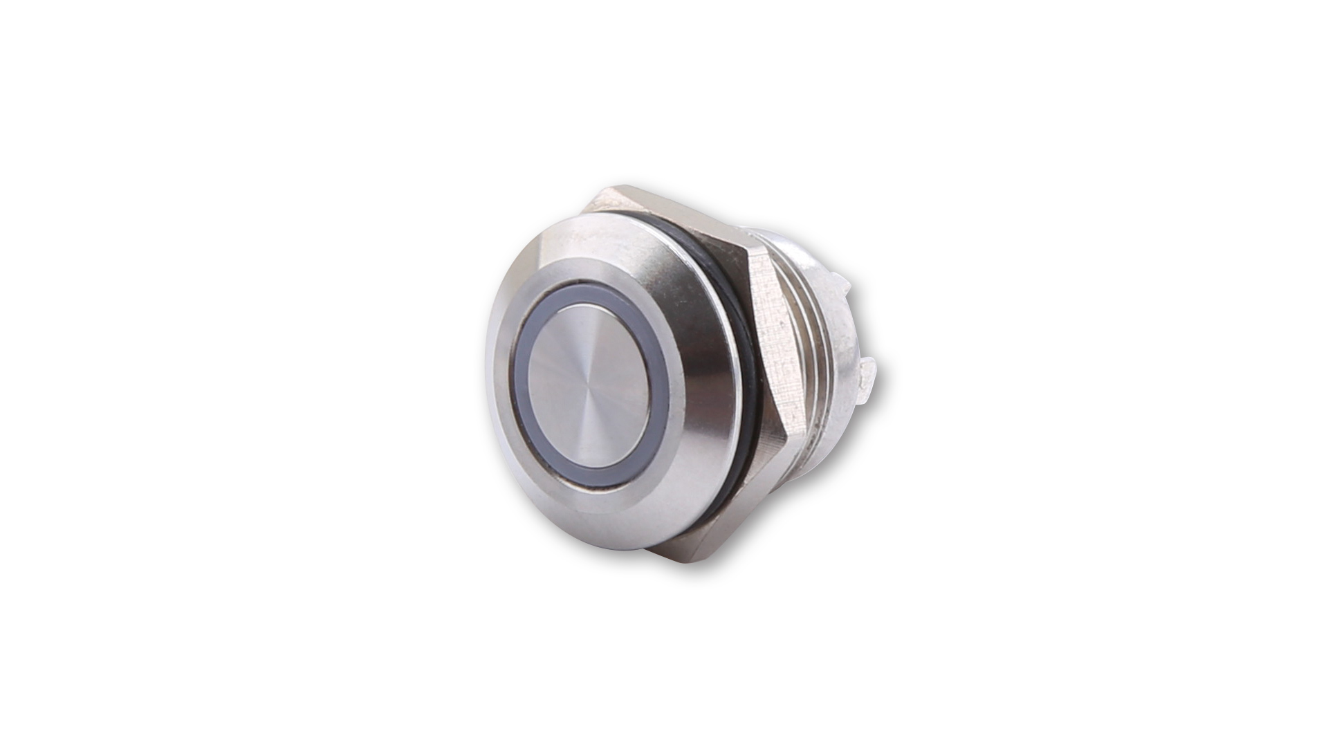 Push Button Stainless Steel With Led Light Ring