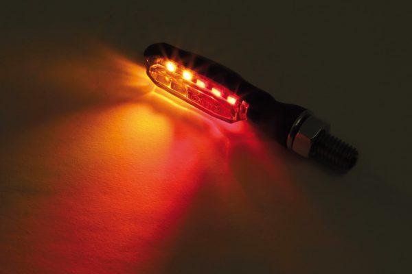 HIGHSIDER LED-bakljus-/blinkers SONIC-X1, svart, rökfärgat