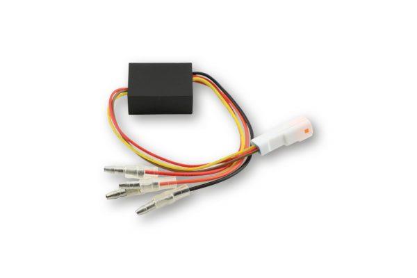 HIGHSIDER Ersatz-Elektronikbox 2 für Rück-, Bremslicht, Blinker Einheit BLAZE, Stecker weiß