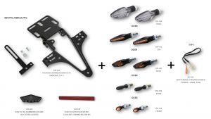 HIGHSIDER regskyltshållare för Triumph Speed Triple årsmodell 11-15
