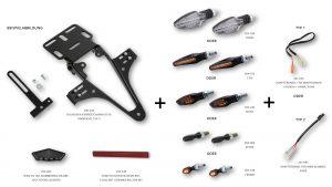 highsider Kentekenplaathouder, SUZUKI GSX-R/S 125, 17-