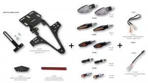 HIGHSIDER regskyltshållare Yamaha YZF R125 till 2013