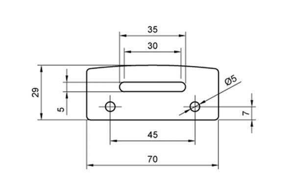 HIGHSIDER alu-hållarplatta med LED-regskyltsbelysning 256-013