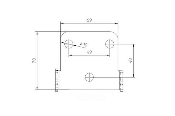 highsider Płyta CNC z uchwytem Uni- typ 3