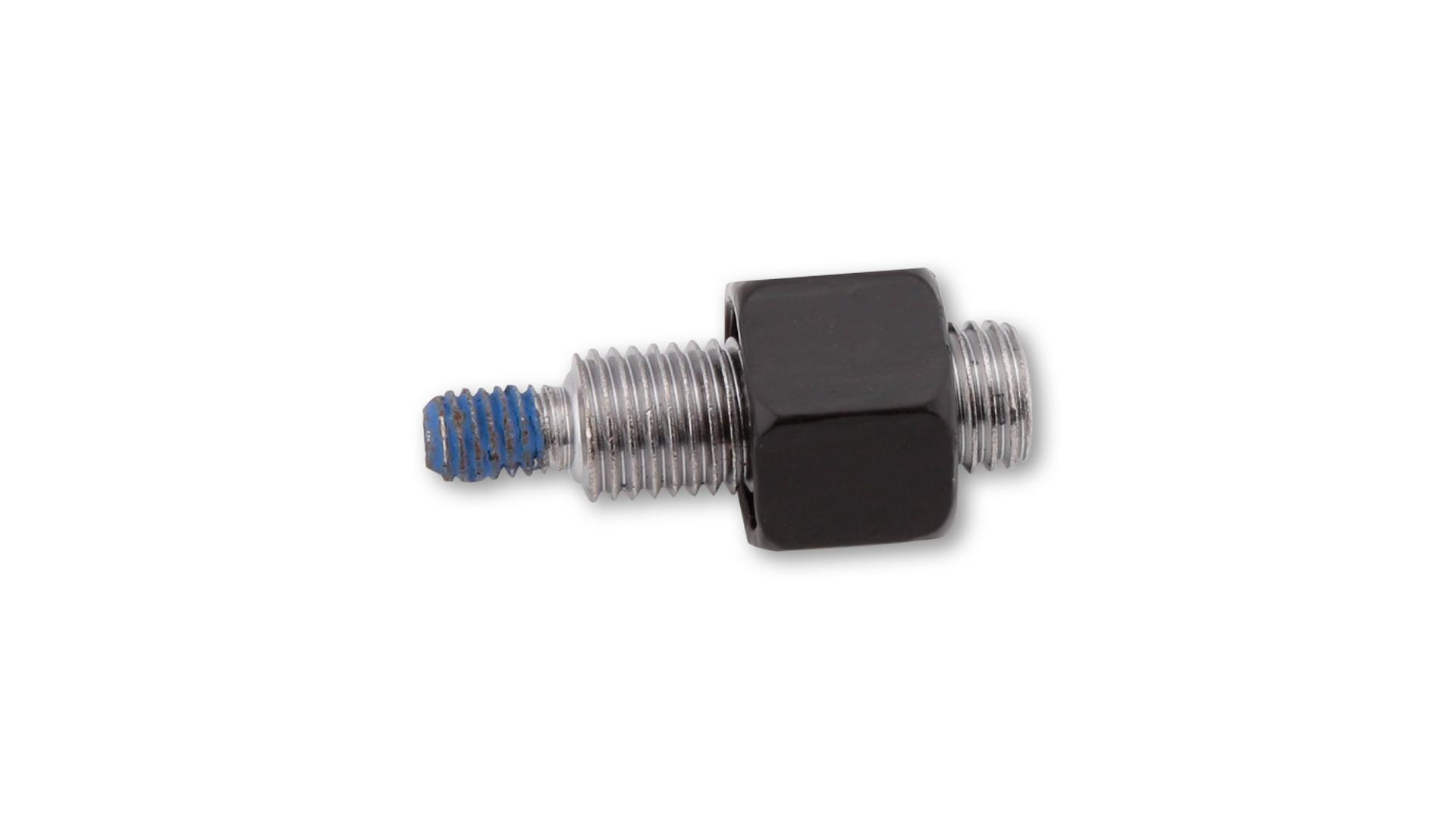 highsider Adapter lusterka M10 x 1,25 mm na M6, czarny