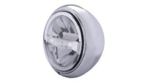 HIGHSIDER 7 tum LED-strålkastare HD-STYLE TYP 4, svart, bottenmontering.