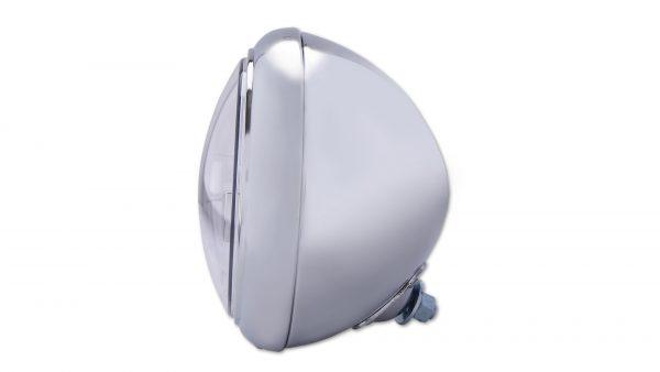 HIGHSIDER 7 tum LED-strålkastare HD-STYLE TYP 4, krom, bottenmontering.